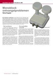 Monoblock ontvangstproblemen - TELE-satellite International ...