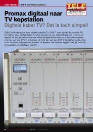 Promax digitaal naar TV kopstation - TELE-satellite International ...
