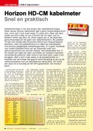 Horizon HD-CM kabelmeter - TELE-satellite International Magazine
