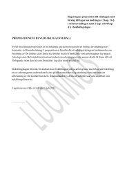 Regeringens proposition till riksdagen med förslag till lagar om ...