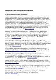 Centrala aktörer inom turismen i Finland (pdf)
