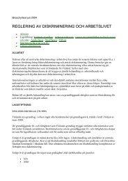 Reglering av diskriminering och arbetslivet, broschyrtext, 2004