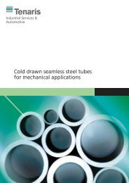 Cold drawn seamless steel tubes for mechanical applications - Tenaris