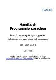 Handbuch Programmiersprachen - Terrashop.de