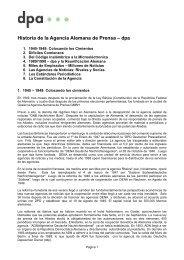 Historia de la Agencia Alemana de Prensa - dpa