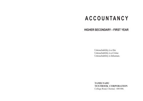 Accountancy: Higher Secondary First Year - Textbooks Online