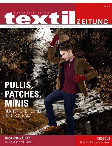 PULLIS, PATCHES, MINIS - Österreichische Textil Zeitung