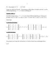 0 ''''=− y y linear unabhängig ist! Die Differentialgleichung: 0 ''''=− y y ...