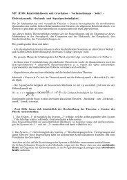 Moderne Physik: Relativitätstheorie