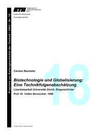 Biotechnologie und Globalisierung - Technikgeschichte der ETH ...