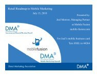 Retail Roadmap to Mobile Marketing - Direct Marketing Association