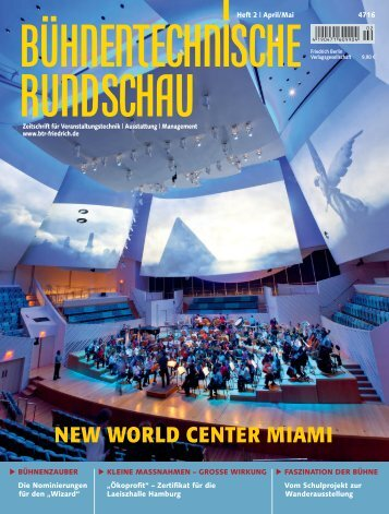 NEW WORLD CENTER MIAMI - Theatre Projects Consultants