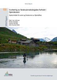Vurdering av ferskvannsbiologiske forhold i Gjendeosen - NINA
