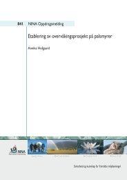 Etablering av overvåkingsprosjekt på palsmyrer - NINA
