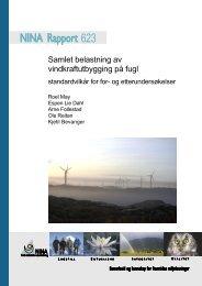 Samlet belastning av vindkraftutbygging på fugl - NINA