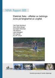 Elektrisk fiske - effekter av lednings- evne på fangbarhet av ... - NINA