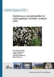 Etablering av overvåkingsfelter for markvegetasjon i Endalen ... - NINA