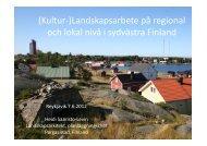 Landskapsarbete på regional och lokal nivå i ... - Skipulagsstofnun