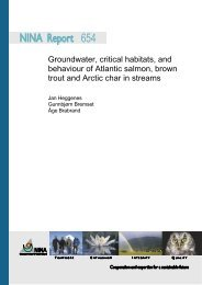 Groundwater, critical habitats, and behaviour of Atlantic ... - NINA