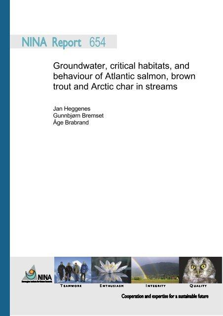 Groundwater, critical habitats, and behaviour of Atlantic ... - NINA