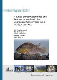 A survey of freshwater fishes and their macroparasites in the ... - NINA