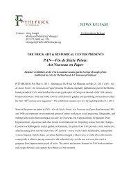 News Release PAN – Fin De Siècle Prints – Art Nouveau On Paper