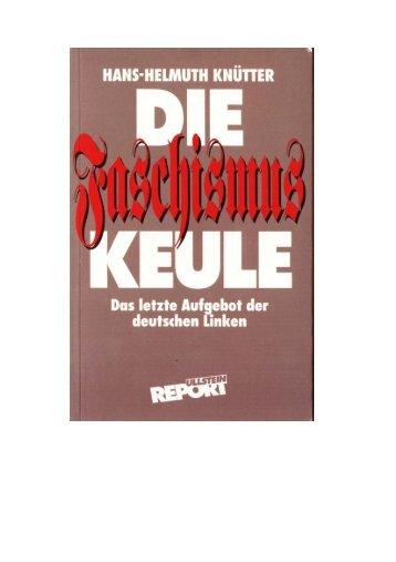 Hans Helmut Knutter: Faschismus Keule (1993) - new Sturmer