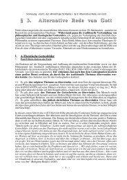 § 3. Alternative Rede von Gott - Theologie-Skripten