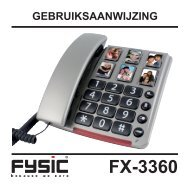 Fysic FX-3360 handleiding - Phone Master