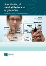 Specifikation af forretningsservice for ORGANISATION