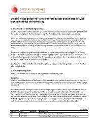 Anbefalelsesgrader for arkitekturprodukter behandlet af sund ...