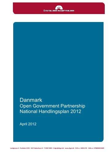 OGP-handlingsplan 2012 - Digitaliseringsstyrelsen