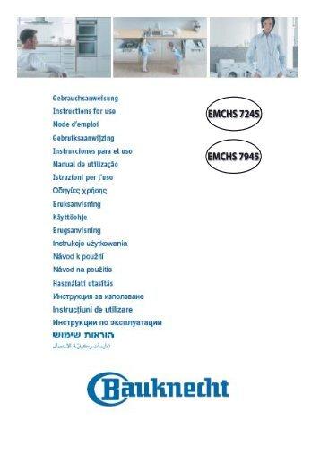 IFU AMU 179 (EMCHS 7245) NL 59001.indd - Bauknecht