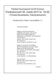Forårskoncert 30. marts 2011 kl. 19.30 - Thisted Gymnasium og HF ...