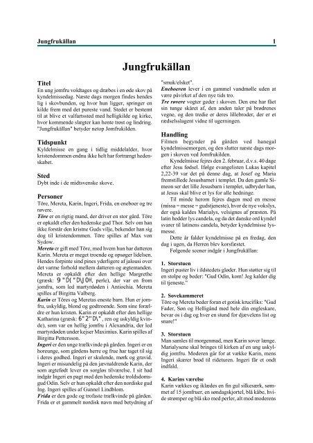 Jomfrukilden af Ingmar Bergman (pdf)
