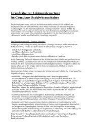 Leistungsbewertung Sozialwissenschaften