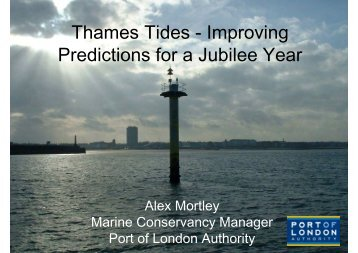 Thames Tides - Improving Predictions for a Jubilee Year - The ...