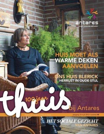 Thuis bij Antares 40, juli 2012 (pdf 2,85 MB)