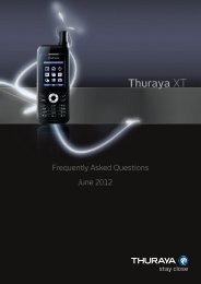 Thuraya XT FAQs