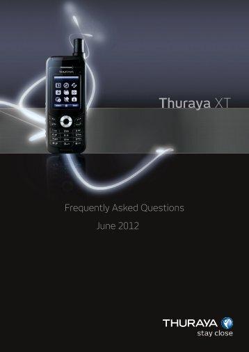 Thuraya XT FAQs