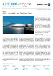 AKtionärsbrief #750.000 kompakt Ausgabe 5 - Mai ... - ThyssenKrupp