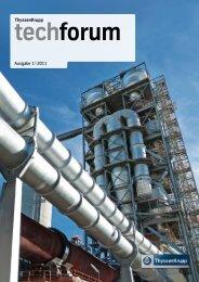 ThyssenKrupp techforum 1/2011 (PDF, 13,8 MB)