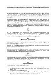 Download der Richtlinien für die Gewährung von Zuschüssen zu ...