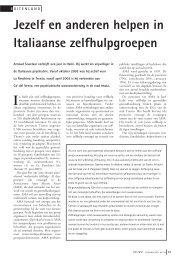 Jezelf en anderen helpen in Italiaanse zelfhulpgroepen - Deviant