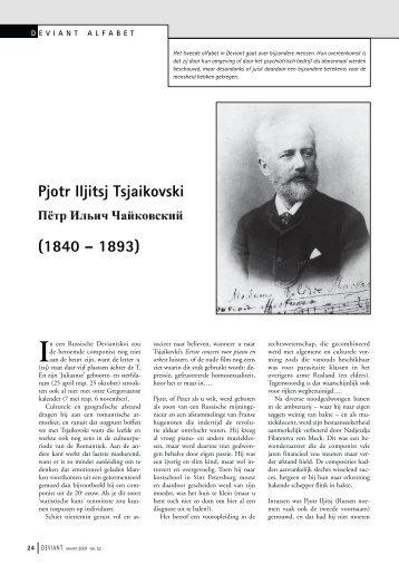 Pjotr Iljitsj Tsjaikovski (1840 – 1893) - Deviant
