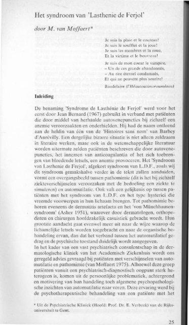 psychiatrie tijdschrift