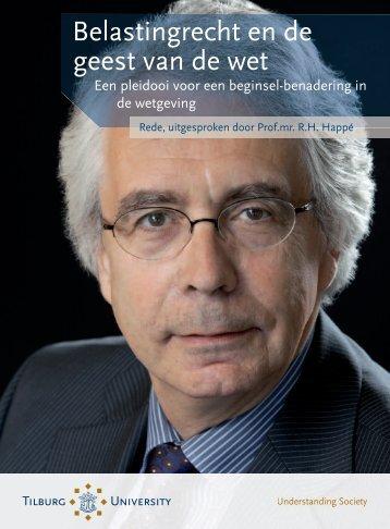 Belastingrecht en de geest van de wet - Tilburg University