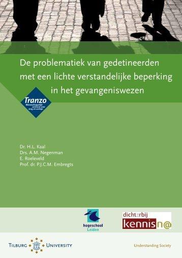 De problematiek van gedetineerden met een ... - Tilburg University