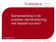 Samenwerking in de publieke dienstverlening ... - Tilburg University