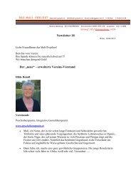 """Newsletter 18 Der """"neue"""" – erweiterte Vereins ... - Das Mali-Projekt"""